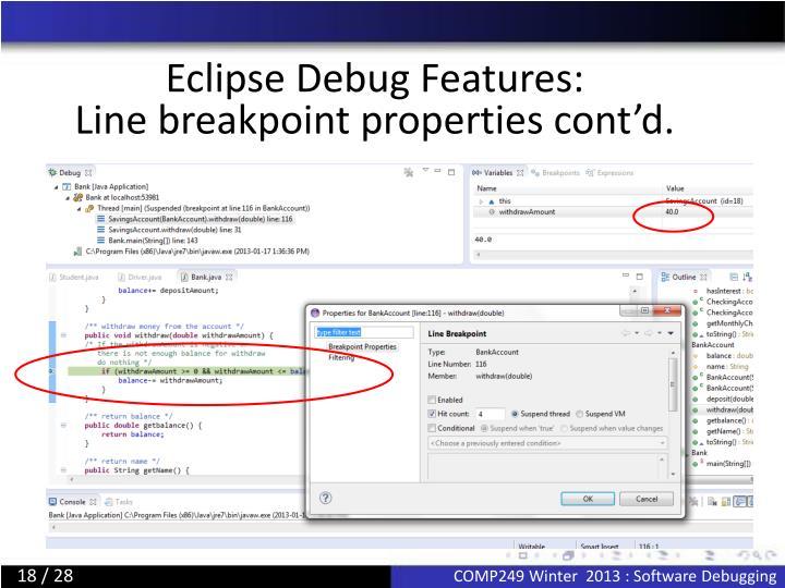 Eclipse Debug Features:
