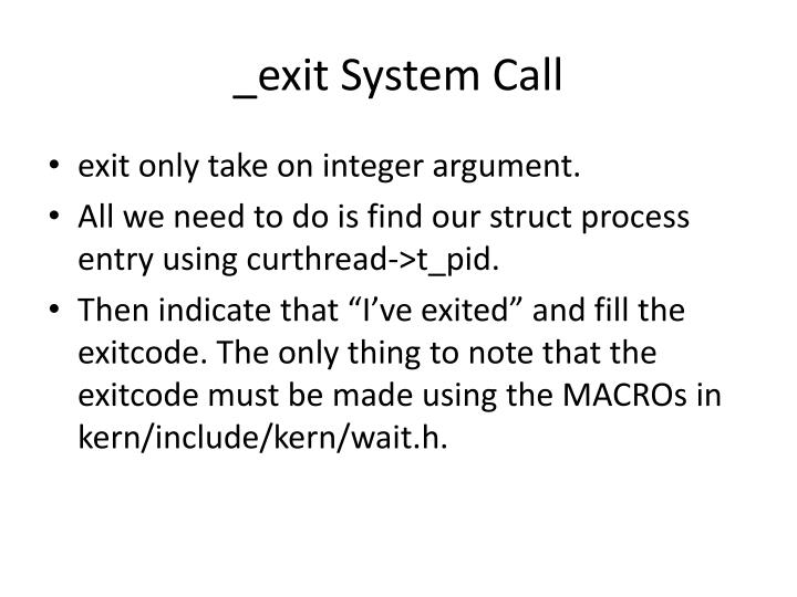 _exit System Call