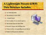 a lightweight process lwp data structure includes