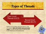 types of threads