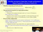 machine parameters impacting vacuum performances bunch population electron cloud 2 3