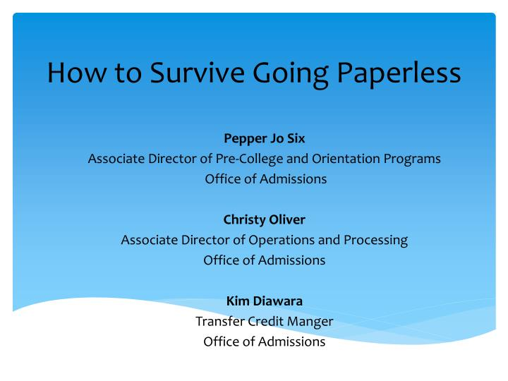 how to survive going paperless n.