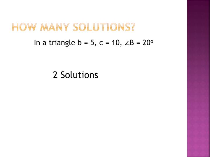 How many solutions