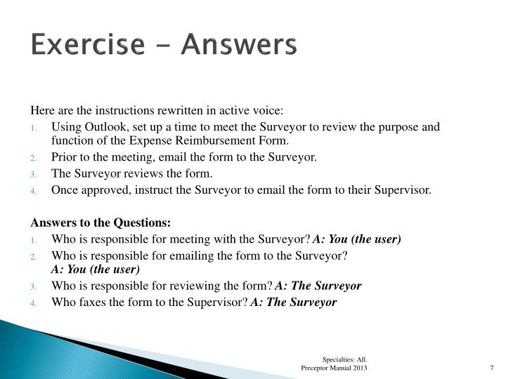 Exercise - Answers