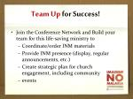 team up for success