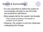system surroundings
