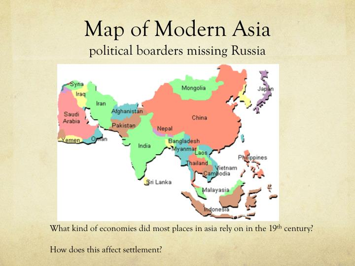 Map of Modern Asia