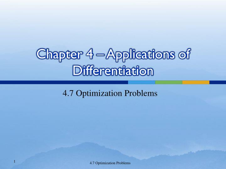 chapter 4 applications of differentiation n.