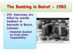the bombing in beirut 1983