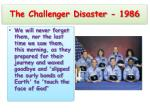 the challenger disaster 1986