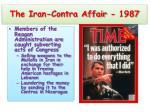 the iran contra affair 1987