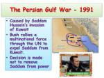 the persian gulf war 1991