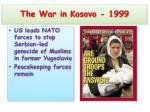 the war in kosovo 1999