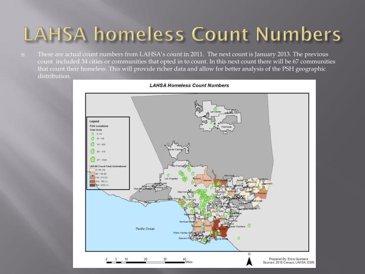 Lahsa homeless count numbers