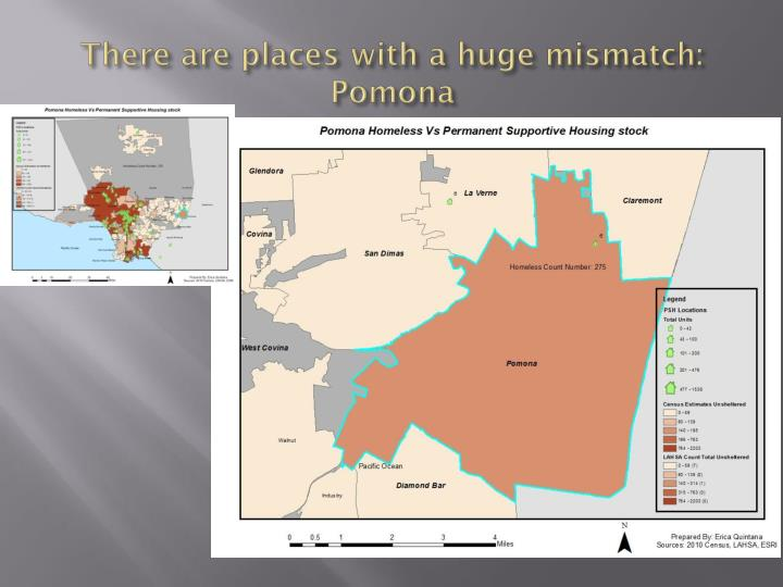 There are places with a huge mismatch: Pomona
