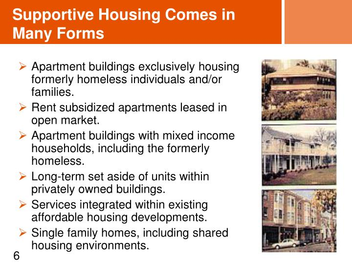 Supportive Housing Comes in Many Forms