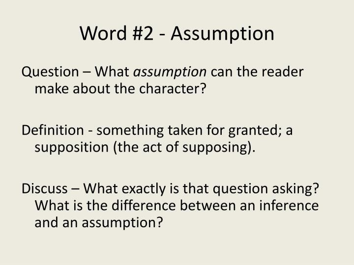 Word 2 assumption