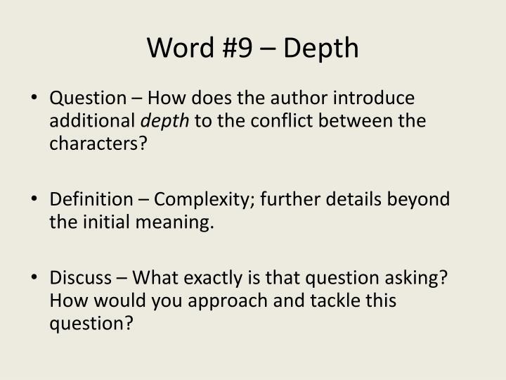 Word #9 – Depth