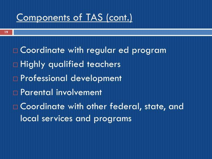 Components of TAS (cont.)