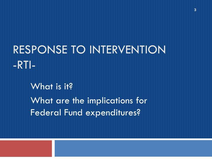 Response to intervention rti