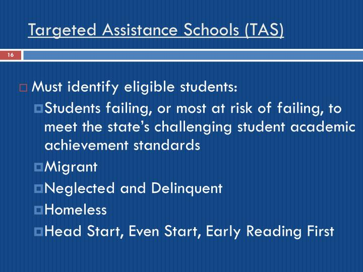 Targeted Assistance Schools (TAS)