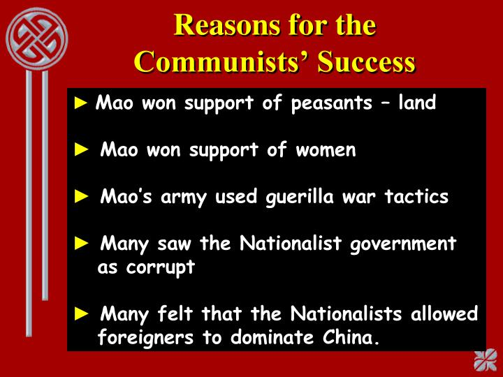 Reasons for the Communists' Success