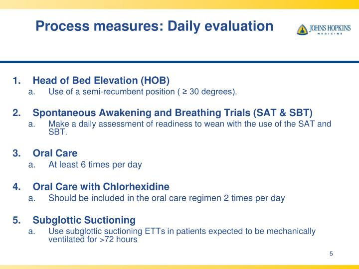 Process measures: Daily evaluation