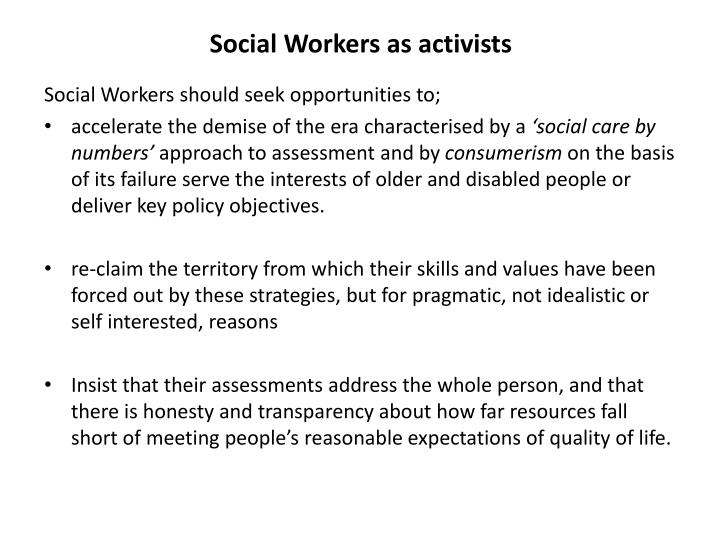 Social Workers as activists