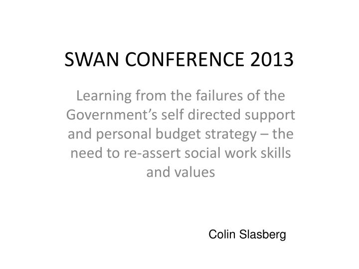 Swan conference 2013