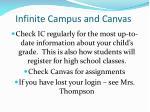 infinite campus and canvas