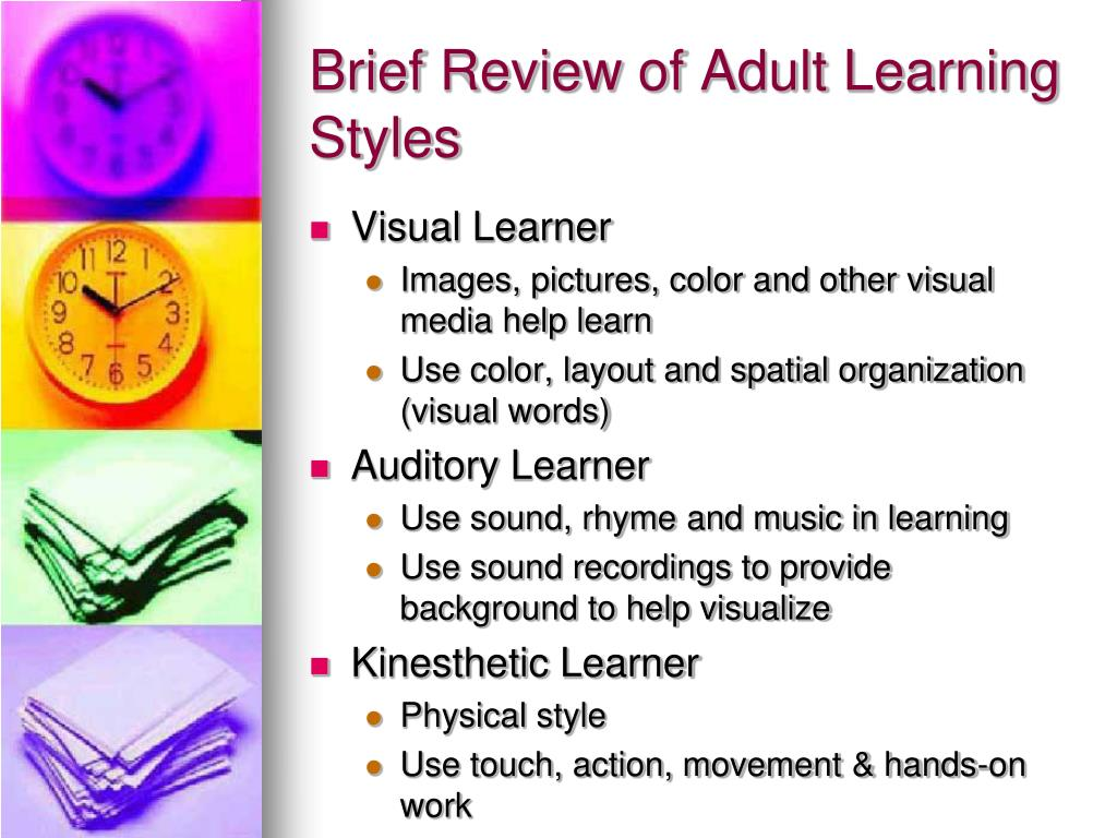 Has Your Learning Style Changed? | Learning theory ...