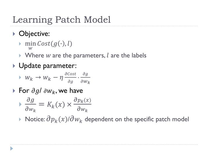 Learning Patch Model