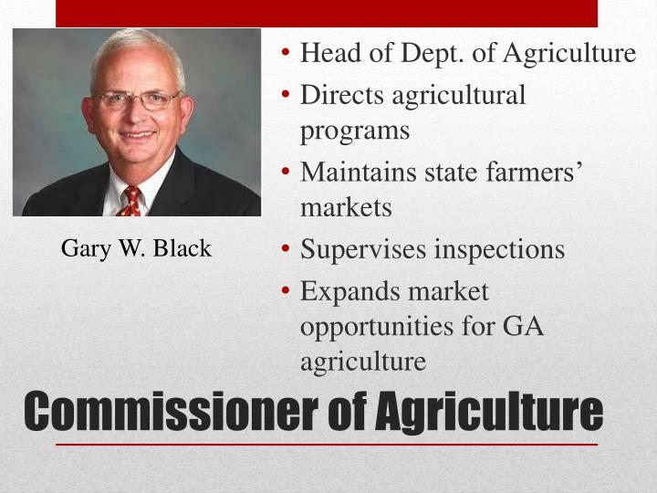 Head of Dept. of Agriculture