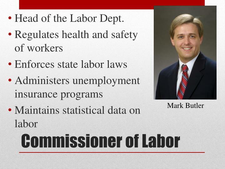 Head of the Labor Dept.