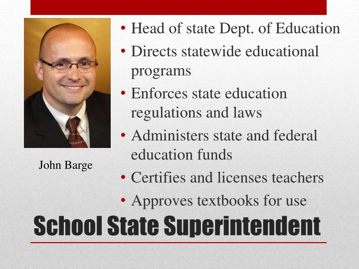 Head of state Dept. of Education