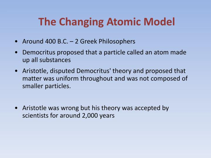 The Changing Atomic Model