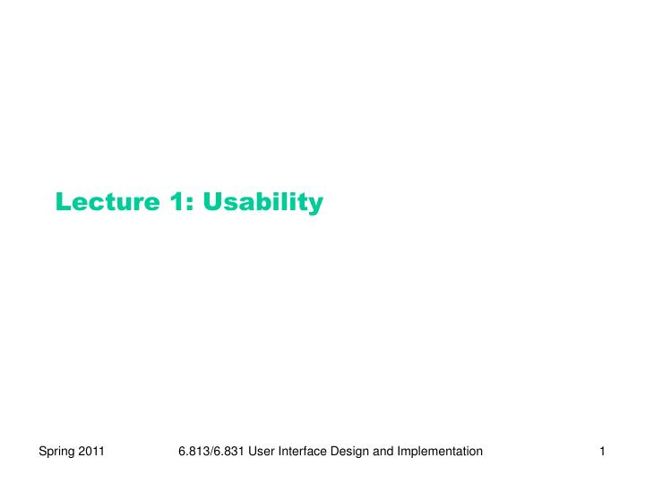 lecture 1 usability n.