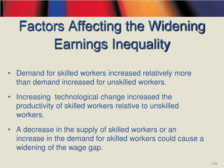 Factors Affecting the Widening Earnings Inequality