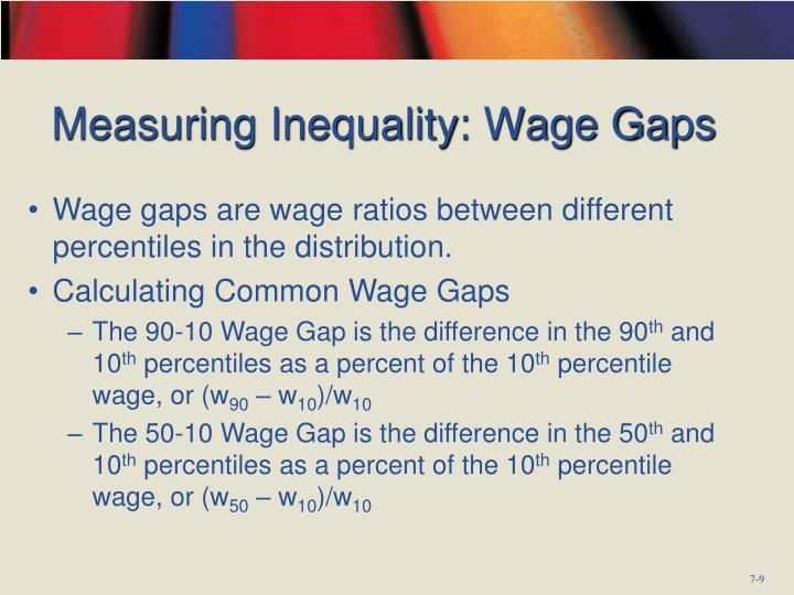 Measuring Inequality: Wage Gaps
