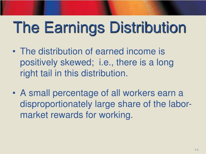 The earnings distribution