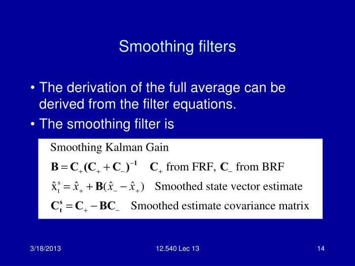 Smoothing filters