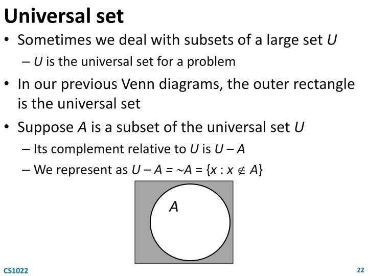 Universal set