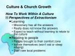 culture church growth