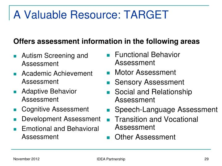 A Valuable Resource: TARGET