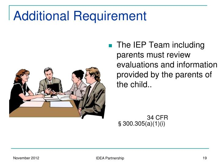 Additional Requirement
