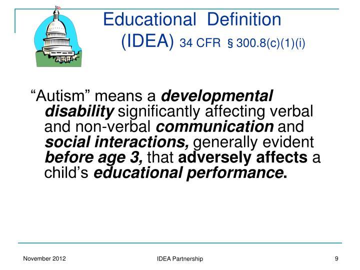 Educational  Definition