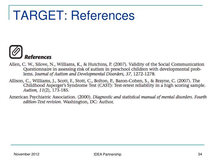 TARGET: References