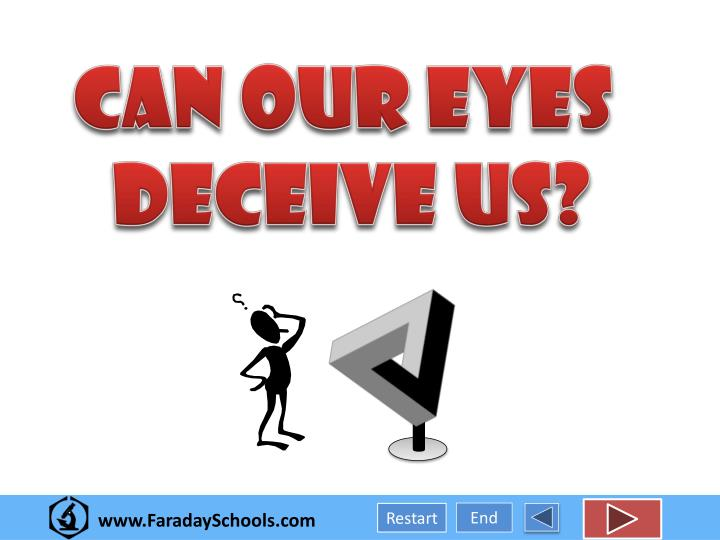 our ears and eyes deceive us essay We hear with our ears, but we listen with our eyes and mind and heart changes in the people around us when we listen, we offer with our attention an.