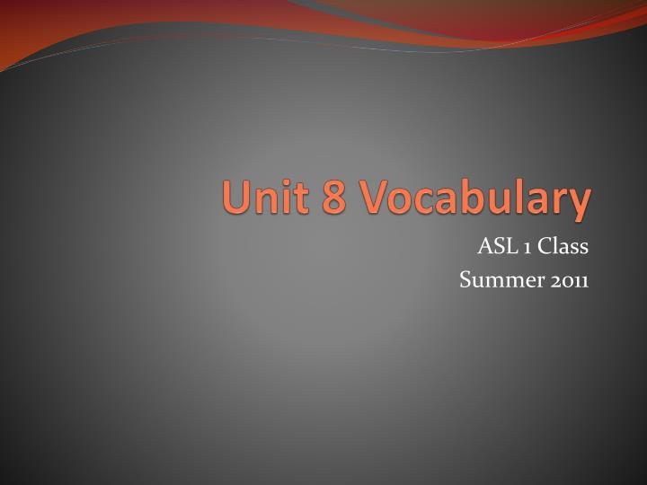 unit 8 vocabulary n.