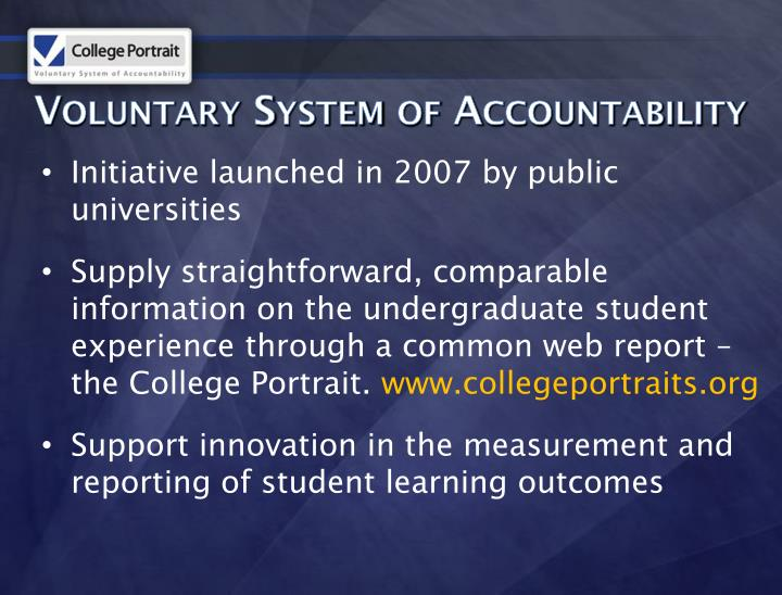 Voluntary System of Accountability
